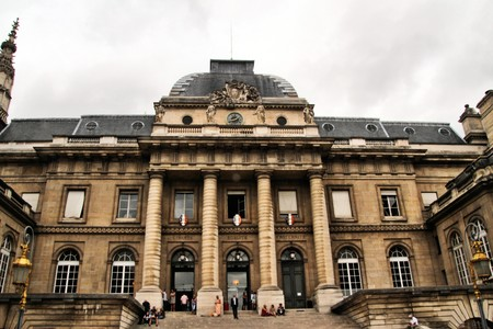 A view of the Palace of Justice in Paris