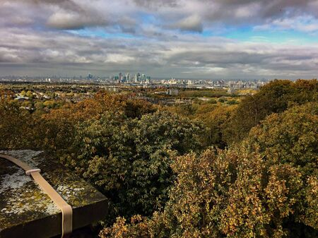 A panoramic view of London from Shooters Hill Фото со стока