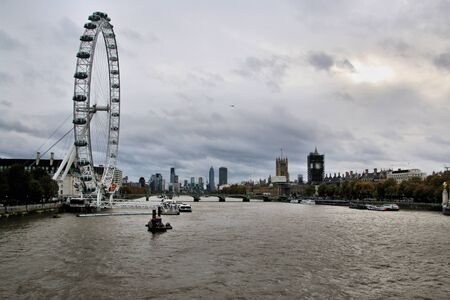 A view of the River Thames at Westminster in London