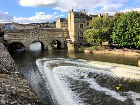 A view of Bath near the Pulteney Bridge
