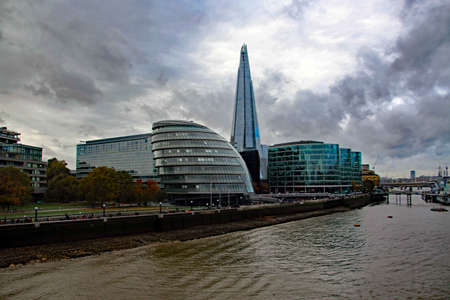 A view of the river Thames in London near westminster