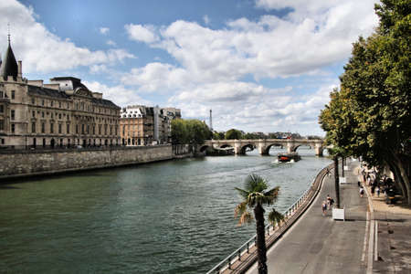 A view of the River Seine in Paris