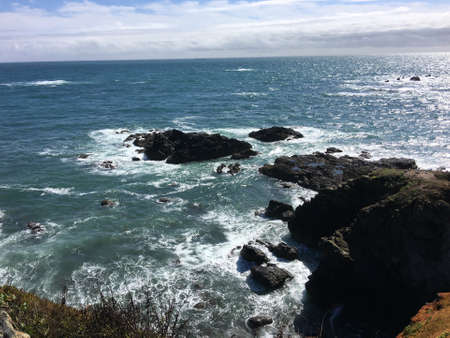 A view of the Cornwall coastline at Lizard Point