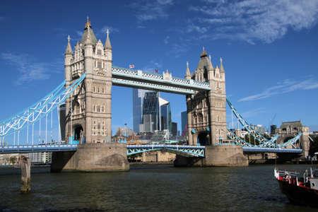 Tower Bridge with the Drawbridge open