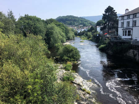A view of the river Dee at Llangollen in North Wales