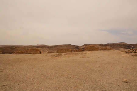 A view of the old Israeli Fortress of Masada