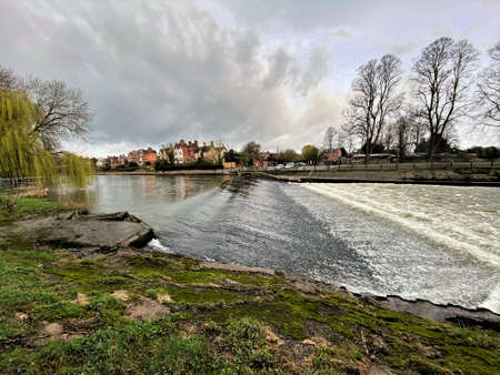 A view of the River Severn in Shrewsbury