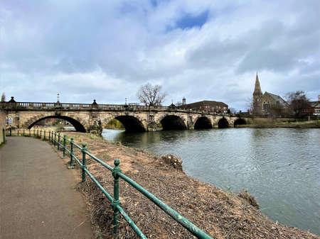 A view of the River Severn in Shrewsbury Reklamní fotografie