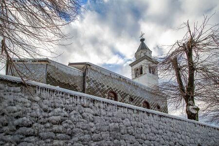 polar climate: Churche in ice armor