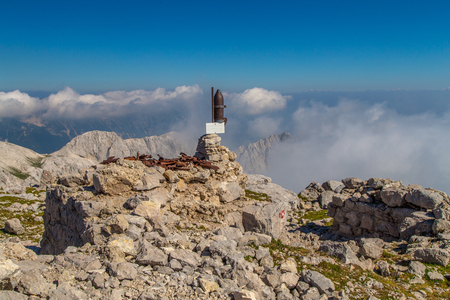 echoes: Echoes of world war one on mountain Batognica, Slovenia Stock Photo