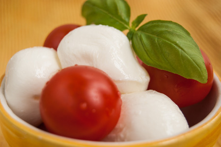 Close up of fresh food composition called caprese Archivio Fotografico - 102804871