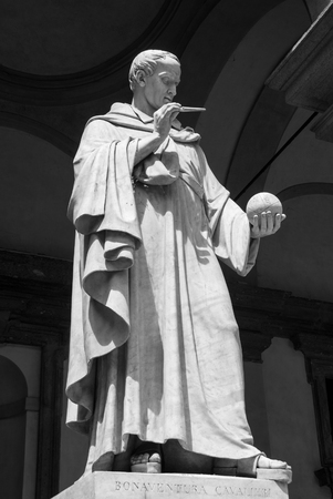 Statue of the Italian mathematician inventor of the axonometric cavalier Sajtókép
