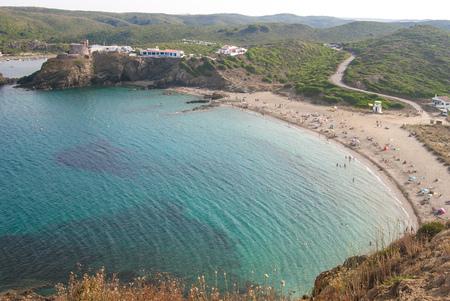 View of the sa Mesquida beach of the spanish island