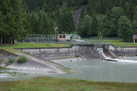 The dam of Carisolo a little town close to Madonna di Campiglio on Dolomites