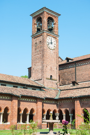 Bells tower outside the Cistercian abbey of Milan