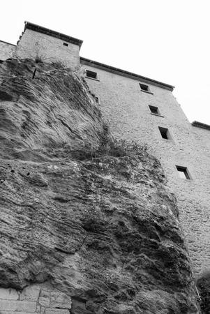Very high perimetric wall surrounds the microstate of San Marino