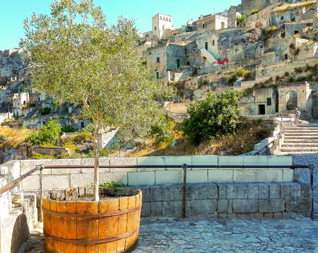 Houses of Matera on the hill the European Capital of Culture