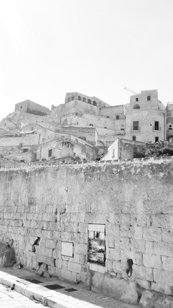 Houses of Matera on the hill the European Capital of Culture 2019 Archivio Fotografico