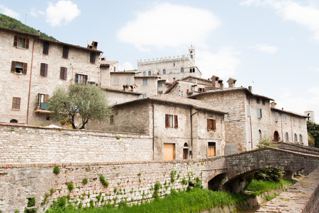 View of Town Hall of the medieval city of Gubbio
