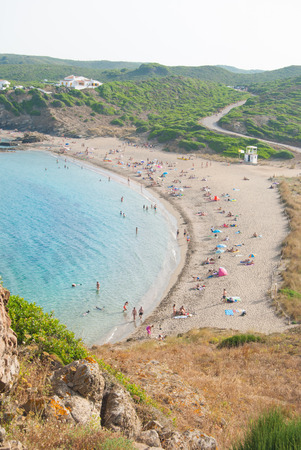 View of the sa Mesquida beach on the spanish island