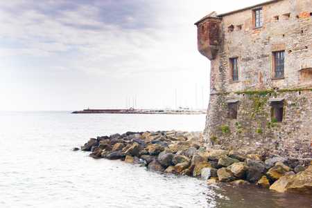 Panoramic view of Rapallo a little town in the north of Italy Editoriali