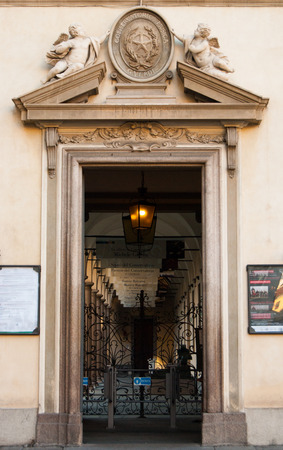 Entrance of Conservatorio college for studying classical music