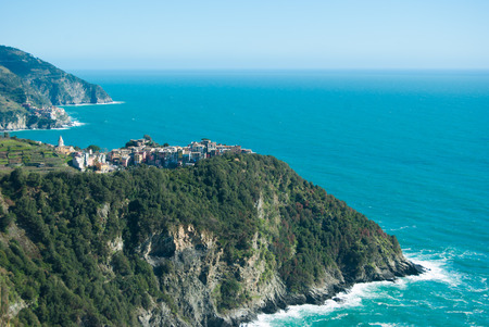 Promontories and inlets between Corniglia and Manarola in Italy