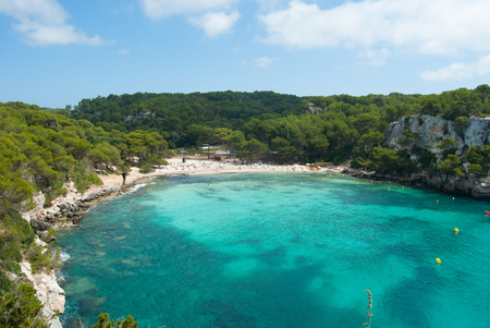 View on one of the most famous beaches of the Balearics
