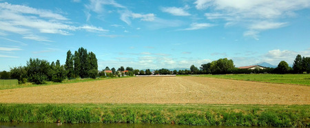 Raw agricultural field before sowing on a sunny day