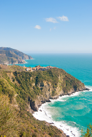Promontories and inlets between on the Mediterranean sea in Liguria