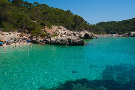 Two of the most beautiful beaches of Minorca of the Bealearic islands