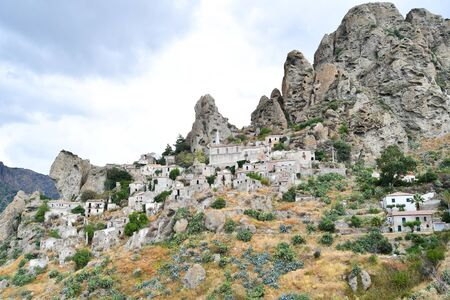 Pentidattilo small abandoned country perched in the mountains of Calabria