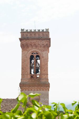Upper part of one of the main Christian churches of a small town in Umbria