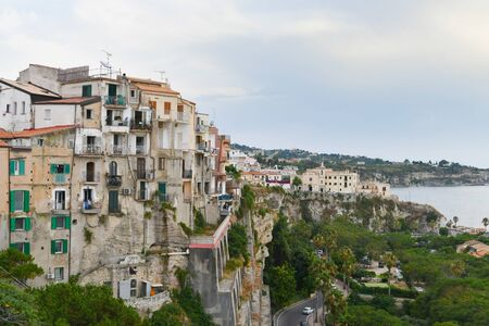 Group of houses on the cliff in one of calabrias most famous tourist destinations