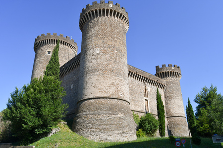 15th century Rocca Pia fortress in the center of the city of Tivoli