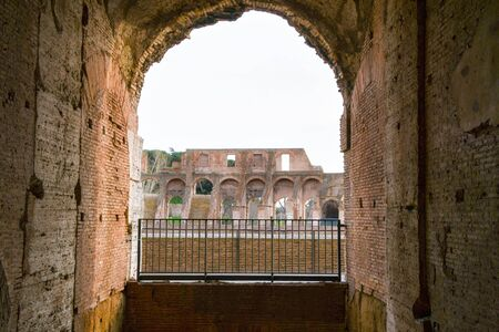 An arc of Colosseo in Rome Italy without tourists 스톡 콘텐츠