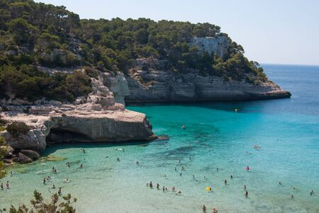 Overview of one of the most beautiful views of the Spanish island of Minorca
