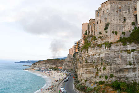 Cluster of cliff houses in one of the most popular summer tourist destinations