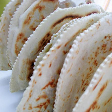 Piadina, typical flour bread Banco de Imagens
