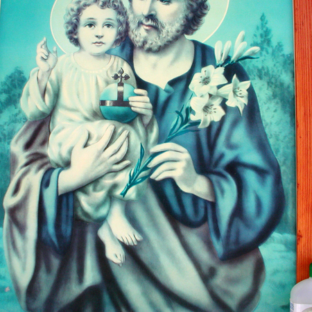 Saint Joseph painting closeup
