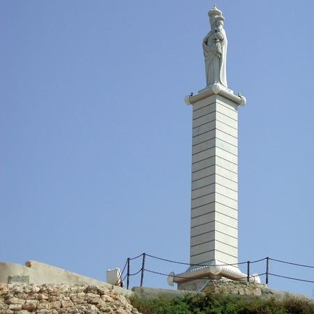 Lampedusa, Italy - September 02, 2002: Virgin Mary statue