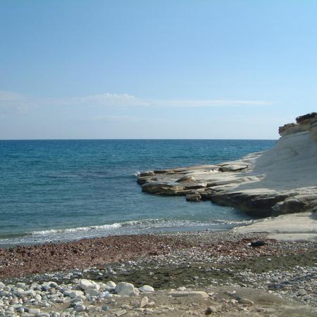 Cyprus, Greece - March 13, 2002: Aphrodite's rock
