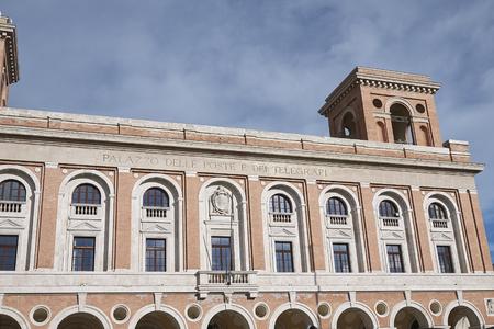 Forli, Italy - January 03, 2018 : 'Palazzo delle Poste' building