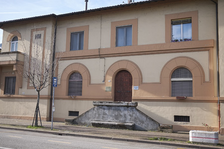 Predappio, Italy - December 22, 2017 : Social housing build by Benito Mussolini in Predappio