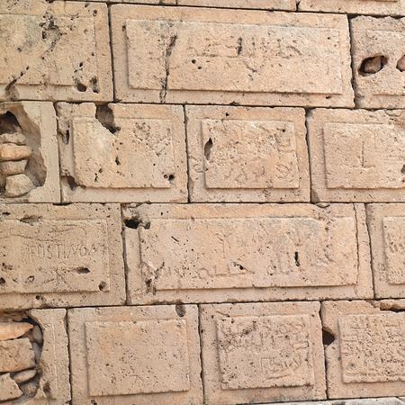 Tolemaide, Libia - 10 maggio 2002: Antiche rovine a Tolemaide Archivio Fotografico - 93190493