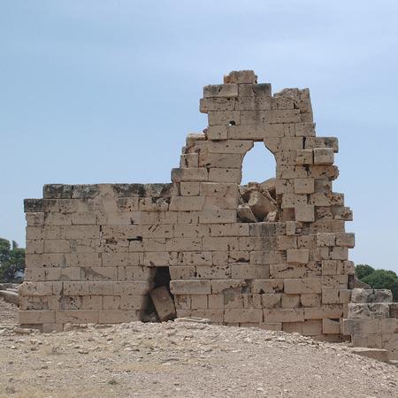 Tolemaide, Libia - 10 maggio 2002: Antiche rovine di Tolemaide Archivio Fotografico - 93183876