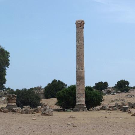 Tolemaide, Libya - May 10, 2002: Ancient ruins in Tolemaide Archivio Fotografico - 93366124