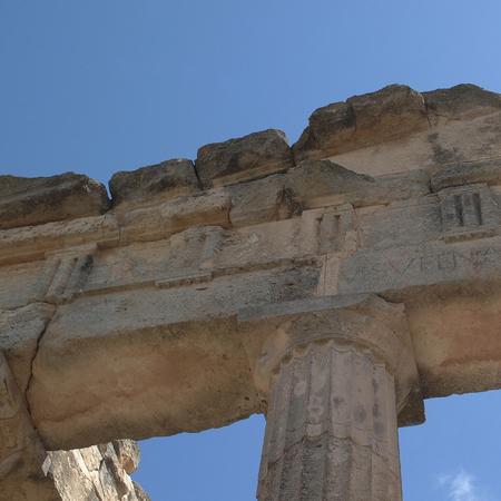 Cirene, Libya - May 13, 2002: Ancients ruins in Cirene Archivio Fotografico - 93152183
