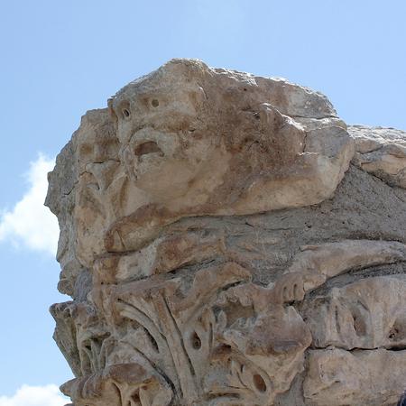 Cirene, Libia - 13 maggio 2002: Antiche rovine a Cirene Archivio Fotografico - 93347649