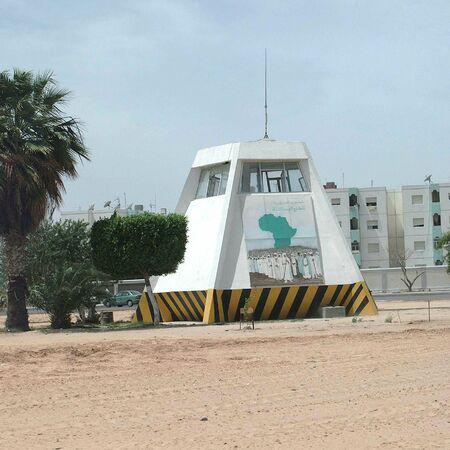Tripoli, Libië - 2 mei 2002: Gheddafi-tent in Tripoli